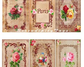 Vintage Rose Tags
