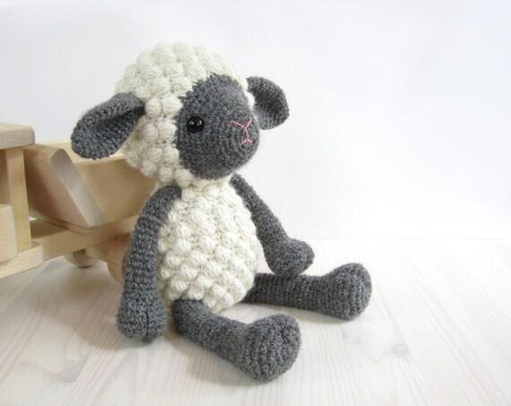 PATTERN: Sheep - Amigurumi lamb - Stuffed animal - Crochet pattern - Tutorial with photos (EN-052)