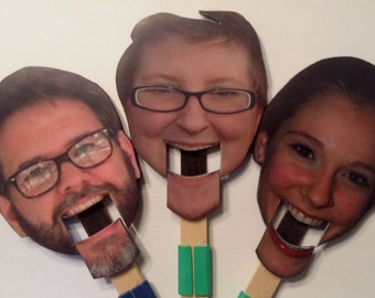 Paddle Puppet - Custom made puppet personalized from your own photograph.