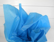 24 Sheets Peacock Blue Tissue Paper, Gift Tissue, Gift Paper, Gift Wrap, Packing Paper, 20 x 26 in. / 50.8 x 66 cm