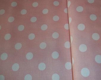 Moda Dottie spot pink & white 100% cotton UK seller