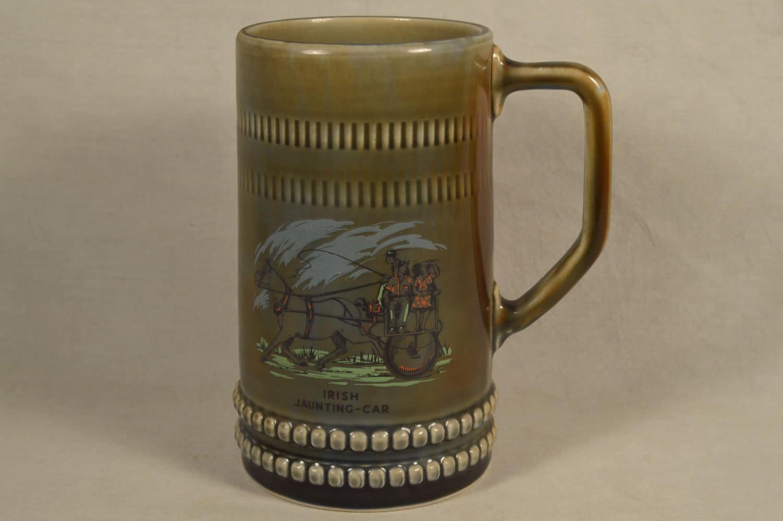 Irish Stein Irish Mug Irish Porcelain Beer by ...  Irish Beer Mug