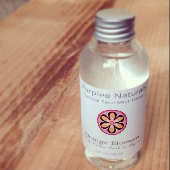 ORANGE BLOSSOM Facial Toner~ Super Moisture w/ Willow bark + Vit E { the Botanical Line ~ 100% Natural}