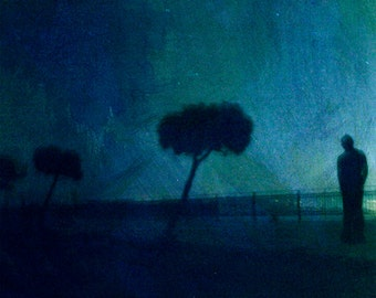 Starry Night. Photo. Photographic Print. square format. print 20 x 20 cm