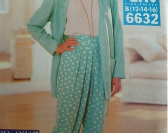 Misses Misses Petite Jacket, Top and Pants Size 12-14-16 See & Sew by Butterick Pattern 6632 Vintage 1993 UNCUT Pattern  Very EASY to Sew
