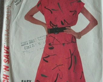 Misses Top and Skirt  Sizes 12-14-16 Stitch 'n Save by McCalls Pattern 2444 EASY to Sew  UNCUT Pattern  1986