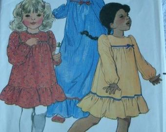 Girls Dress Size 6X VINTAGE Butterick Girls Pattern 3598 Mint condition UNCUT Pattern 1970'x