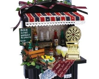 Handmade Dollhouse Kit,Mini counter kit,Pub,BAR