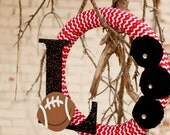 College Football Wreath