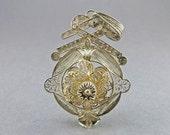 Vintage Sterling Pendant Filigree Silver Pendant Statement Pendant Ethnic Jewelry Stering Jewelry Vintage Jewellery