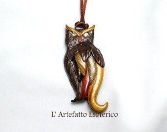 pendant owl (brown)
