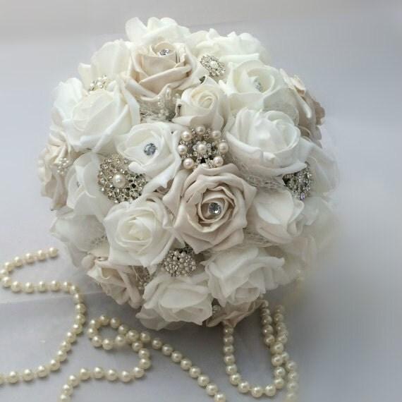 Winter White Wedding Flowers: Wedding Bouquet Winter Wonderland Style By Lovefromlilywedding