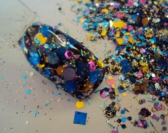 Nail Art Acrylic Gel Glitter Mix  EXTRAVAGANZA