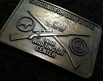 Belt Buckle NRA  CROSSED GUNS