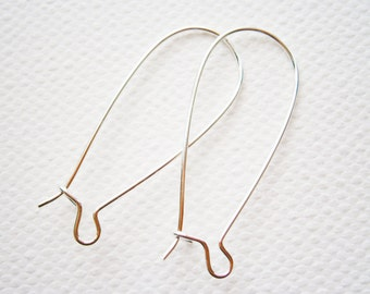 100 Silver Plated Kidney Earwire 33x14mm.