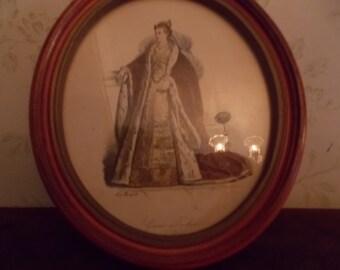 Vintage Oval Picture of Grande Duchesse De Venise
