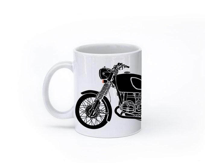 KillerBeeMoto:  U.S. Made Limited Release 1970 German Engineered Motorcycle Mug (White)