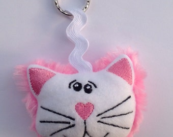 Pink Cat key ring