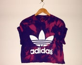 Unique classic adidas acidwash stakergirl crop top tshirt oversized slouchy indie grunge swag style boss festival