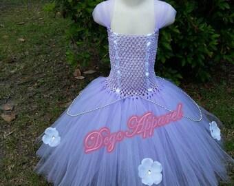 SOFIA the FIRST 1st (Design 1) inspired Princess Tutu Dress,Skirt (Kids 2t, 3t, 4t)
