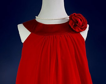 RED Flower Girl Dress, Red Party, Special Occasion, Easter, Flower Girl Dress (ets0160rd)