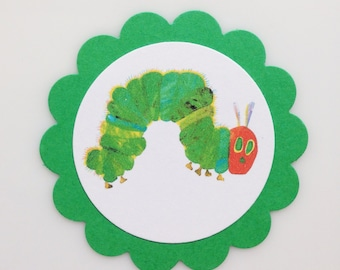 HUNGRY CATERPILLAR Favor Tags/Cupcake Toppers (12ct)