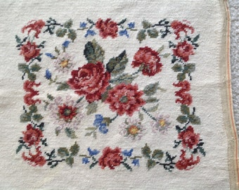 Vintage Needle Point Canvas
