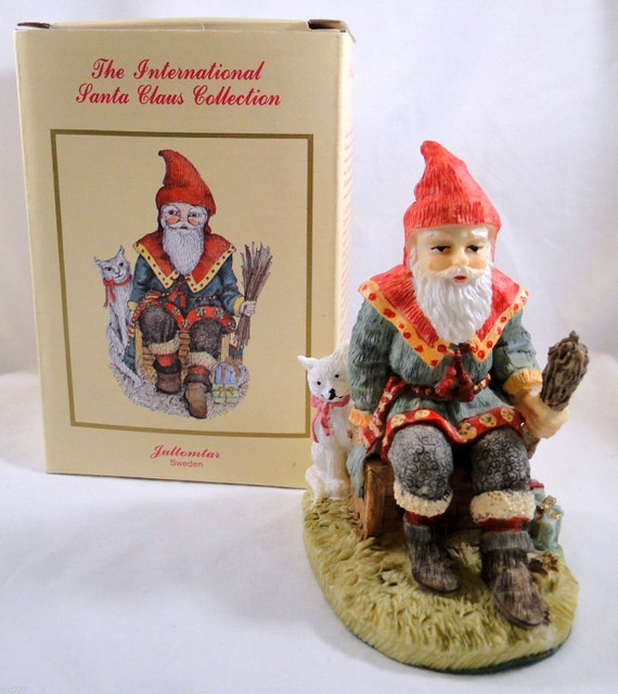 International santa claus collection figurine sweden by