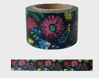 Vintage Flower Washi Tape -- Japanese Washi Tape -Deco tape-- 30mm x10M