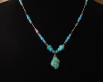 turquois and heishi necklace