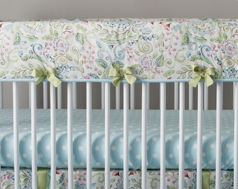 Girl Baby Crib Bedding: Bebe Jardin 4-Piece Crib Bedding Set by Carousel Designs