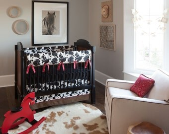 Cow Print Baby Bedding On Etsy A Global Handmade And