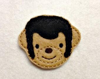 Feltie Elvis Teddy Bear Embroidery Design