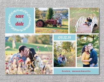 Photo Save the Date Card   DIY Printable or Printed   5x7