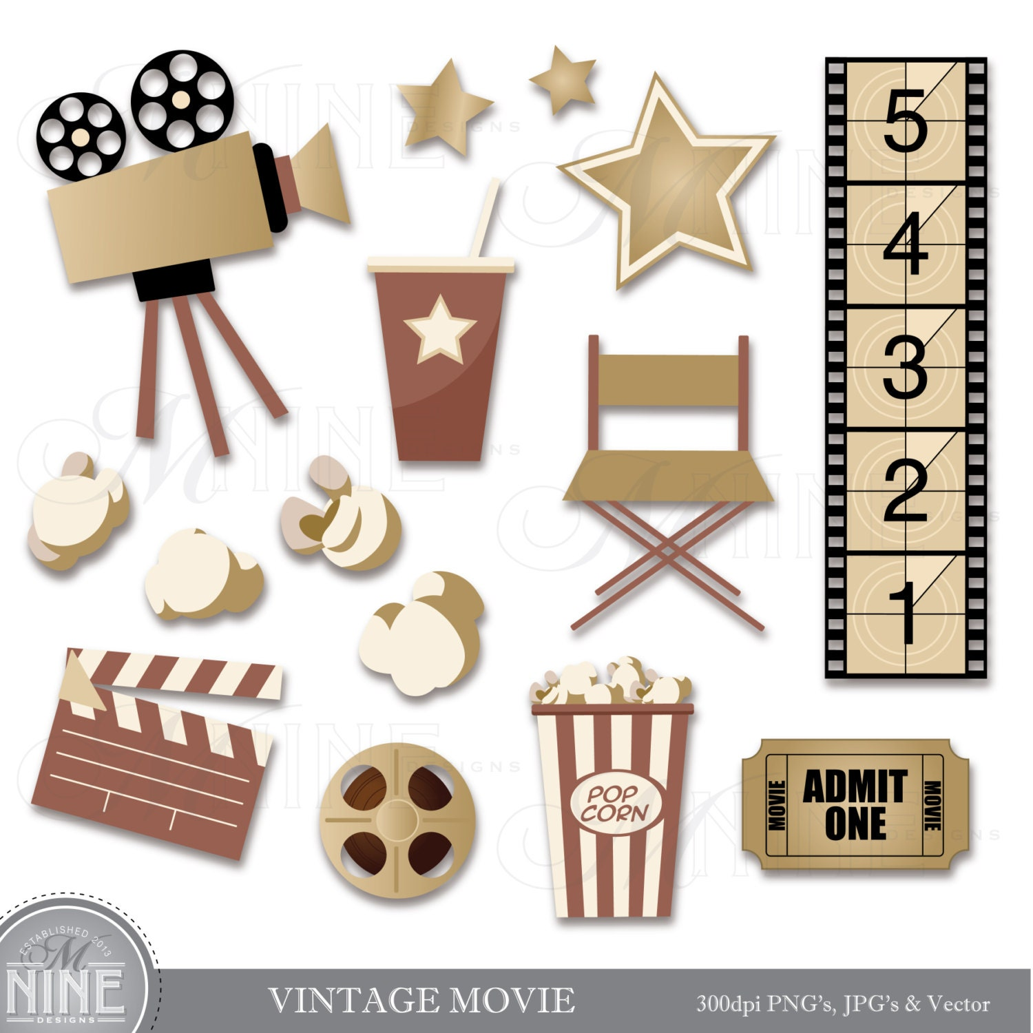 vintage hollywood clipart - photo #2