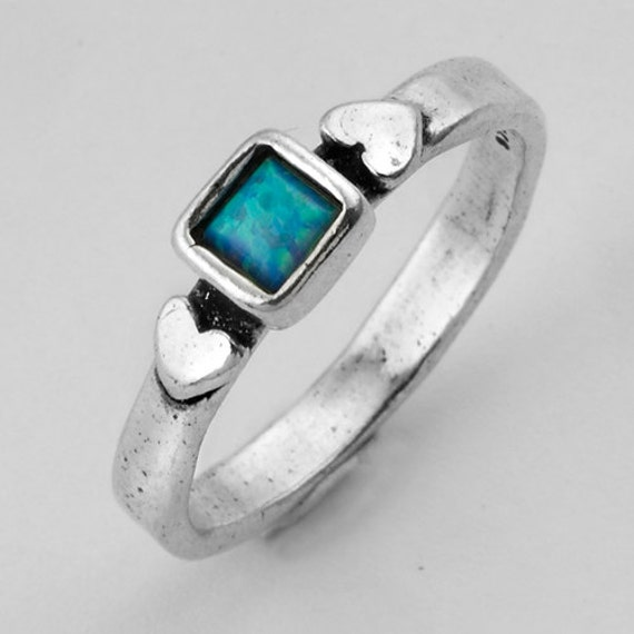 Shablool Amazing Wholesale Price Blue Opal 925 Silver Ring