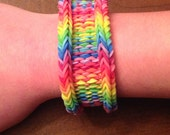 Rainbow Loom Bracelet - Original design! The Rainbow Weave - 3 looks in 1