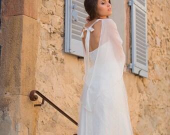 Bridal cape 100% silk  Made in France - CLÉMENCE