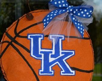 University Of Kentucky Uk Basketball Door Hanger