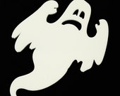 Halloween Coaster  Spiro Ghost  laser cut  hand finished  White acrylic set of 1 or set of 4