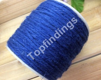 U Pick! 2mm Hemp Rope-Hemp Twine-Flax Kraft String-Hang Tag String-Royal blue