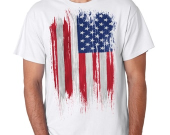 American Distress Flag USA Independence Day T-Shirt
