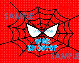 Spiderman Birthday Web Shooter Label for Silly String RED-YOU PRINT