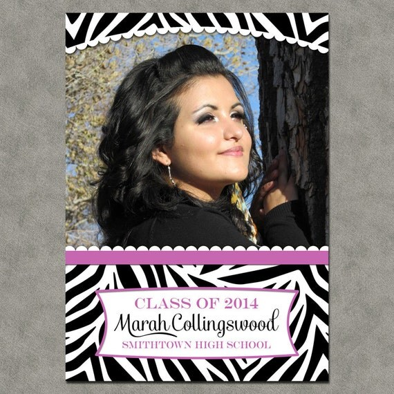Zebra Graduation Announcements