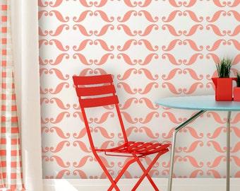 Modern Wall Stencil Millicent Allover Geometric Stencil for DIY Wall decor