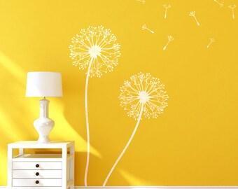 Dandelion Flower Stencils for Wall art DIY decor just like Wallpaper