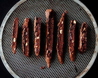 8x12 Photograph of Chocolate Biscotti