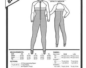 Sewing Pattern - Womens Pattern Unitard Pattern, Green Pepper Patterns - GP 408