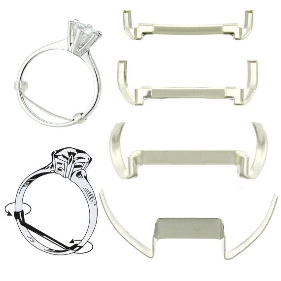 white gold filled womens ring guard adjuster creates a custom