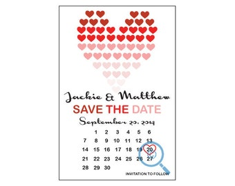 Save the Date Hearts